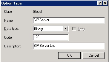 Configuring DHCP Servers Manually on 32Bit and/or 64Bit Windows Server (Option 120 and Option 43)